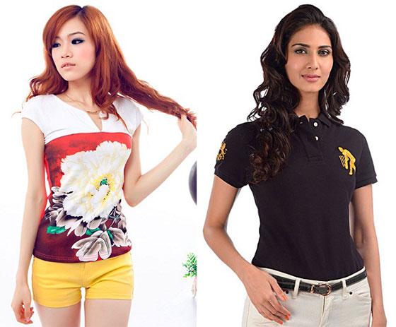 1ee39b204234 Модные женские футболки 2018: фото-обзор