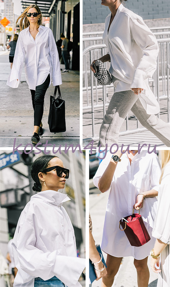 9cab0a7d856 ... женских образов в повседневном и деловом стиле – это белая рубашка.  Легкие хлопковые