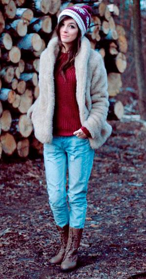 ba9c29f5d71 С чем носить джинсы зимой женщинам